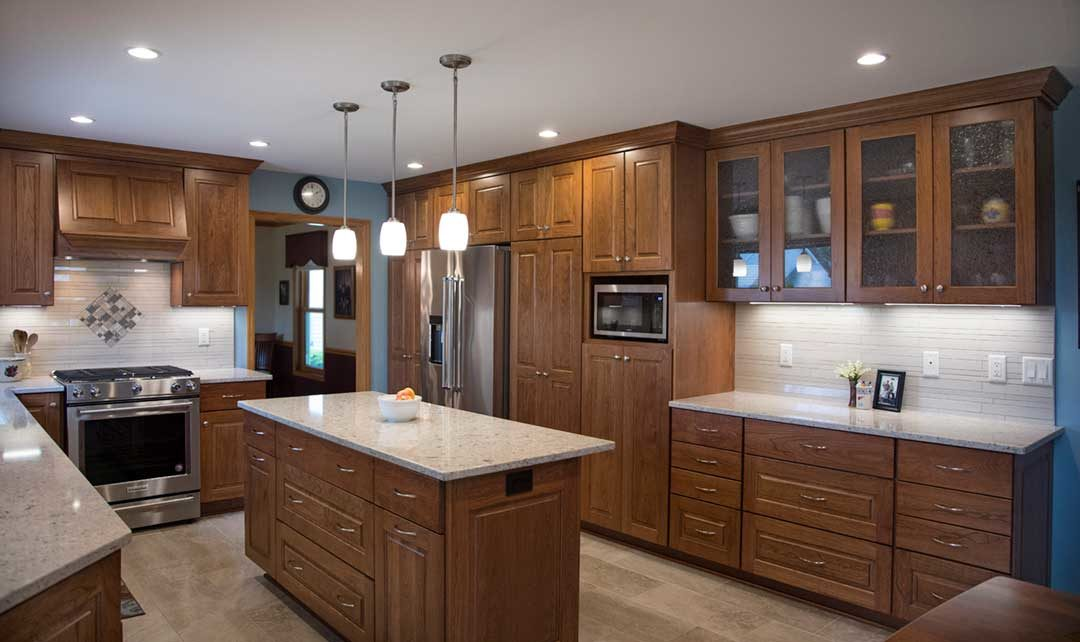 From Dated to Delightful: An Enclosed Kitchen Design in Fitchburg, WI