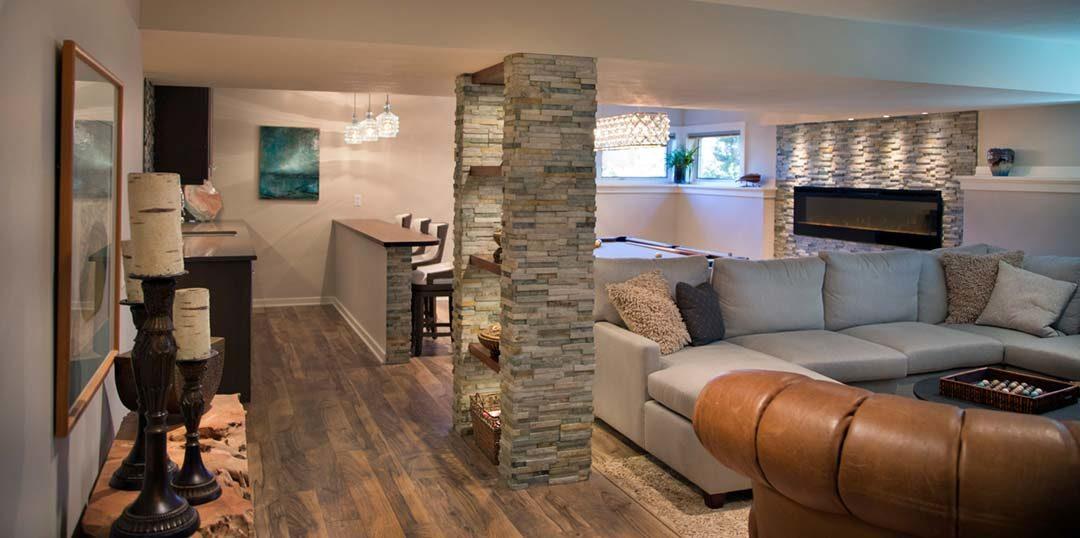 Luxurious Basement Remodel in Lake Mendota Middleton, WI