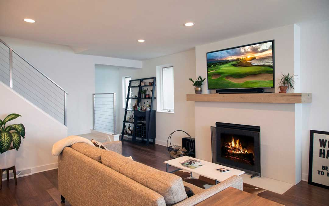 Madison WI Transitional Remodel Living Room Fireplace