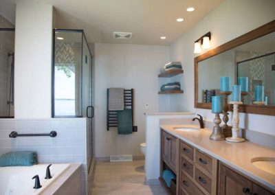 Master Bathroom in Stoughton, WI Lakeview Vacation Home Receives a Magnificent Makeover