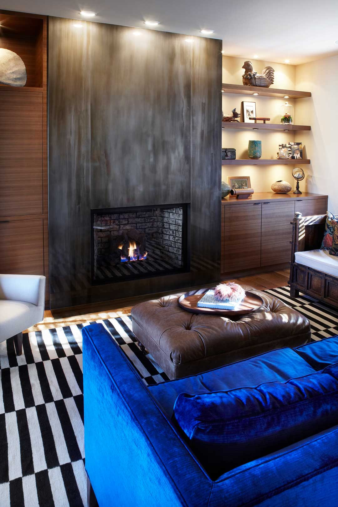 Madison-WI-Contemporary-Kitchen-Remodel-Fireplace