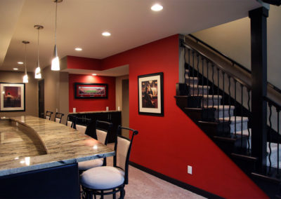 Entertain In Style: Basement Remodel in Seminole Forest Madison, WI