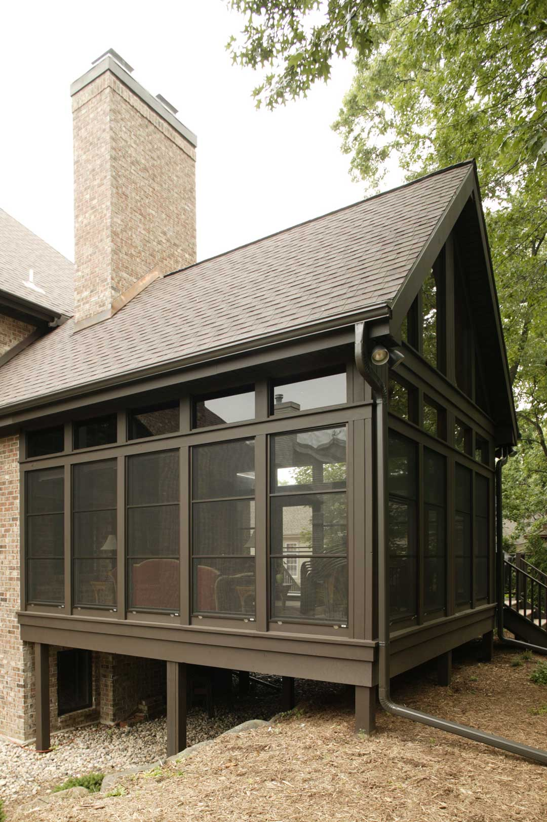 Fitchburg-WI-Traditional-Sunroom-Addition-Exterior-Close-Up