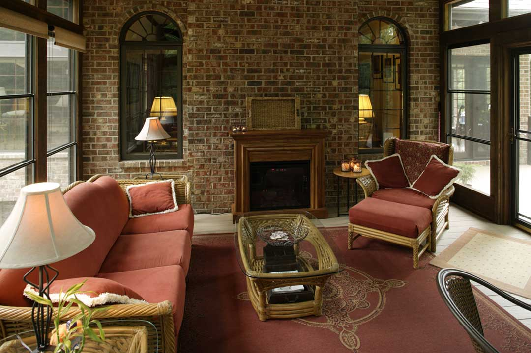 Fitchburg-WI-Traditional-Sunroom-Addition-Fireplace