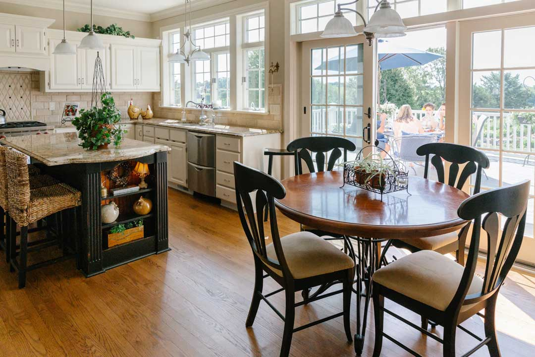 Traditional kitchen remodel seating area verona wi