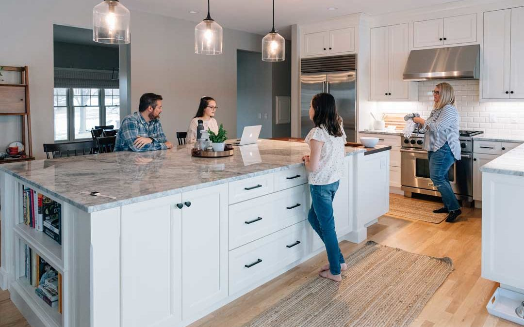 A Dated Kitchen Gets A Clean Slate: Transitional Kitchen Remodel in Madison, WI