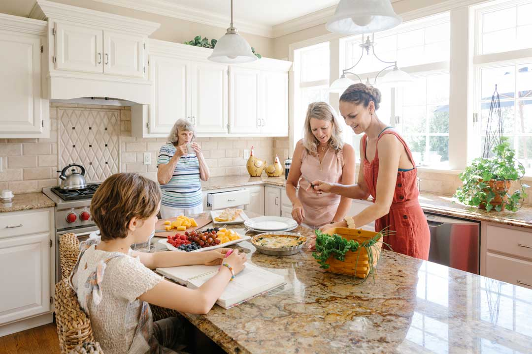A family enjoying kitchen remodel verona wi