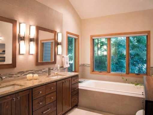Designed for Relaxation: A Transitional Master Bathroom, Hall Bath and Laundry Room Remodel in Fitchburg, WI