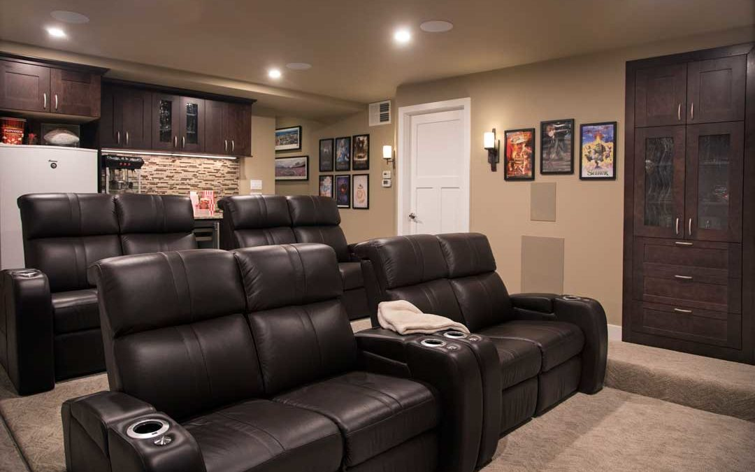 Lights, Camera, Home Theater! A Luxury Home Theater Basement Remodel in McFarland, WI