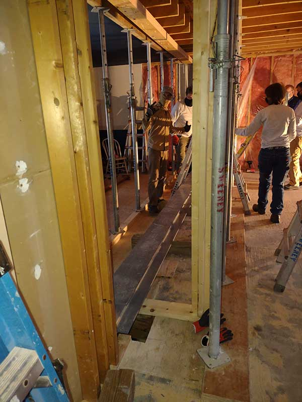 Step 2—Bringing the 20-Foot I-Beam Into the House