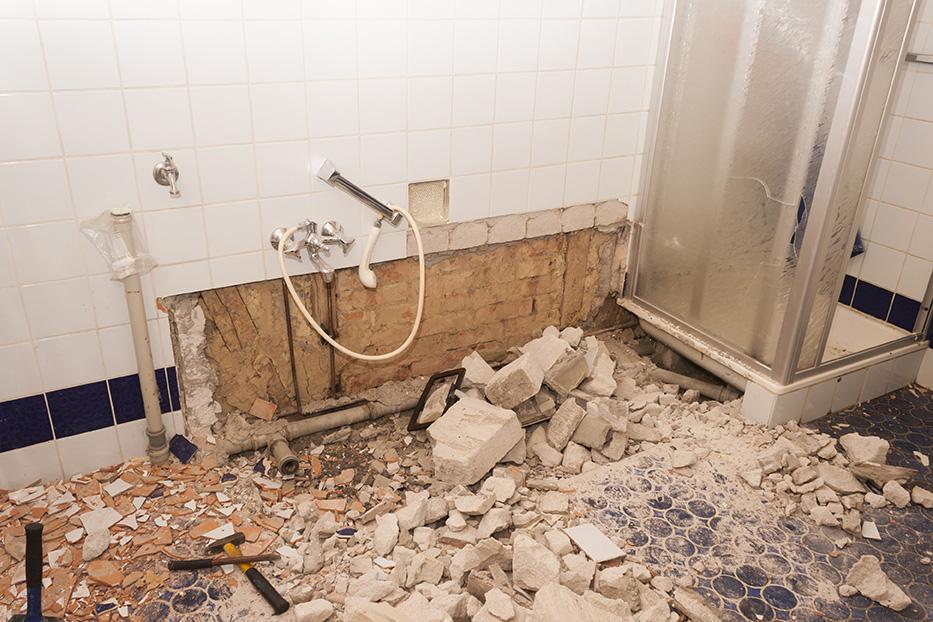 bathroom renovation demolition