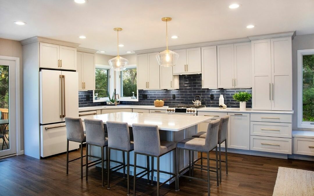 To Create Space for Entertaining: An Open Concept Kitchen, Dining and Living Room Remodel in Monona, WI